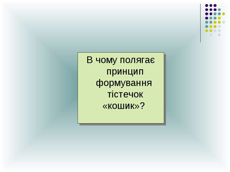 В чому полягає принцип формування тістечок «кошик»?