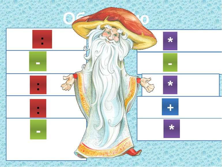Обери дію 14 2=7 * 18 3=15 24 3=8 15 3=5 27 3=24 5 2= 10 21 3=18 9 3=27 20 2=...
