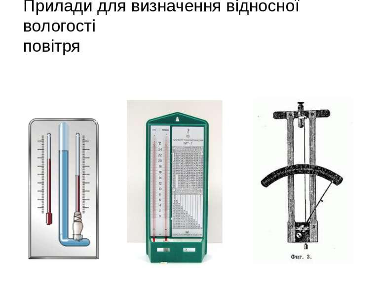 Прилади для визначення відносної вологості повітря