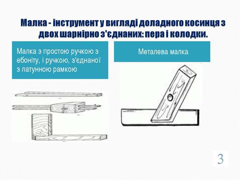 Малка з простою ручкою з ебоніту, і ручкою, з'єднаної з латунною рамкою Метал...