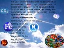 Сонце – це величезна куля з плазми (тобто іонізованого газу), що складається ...