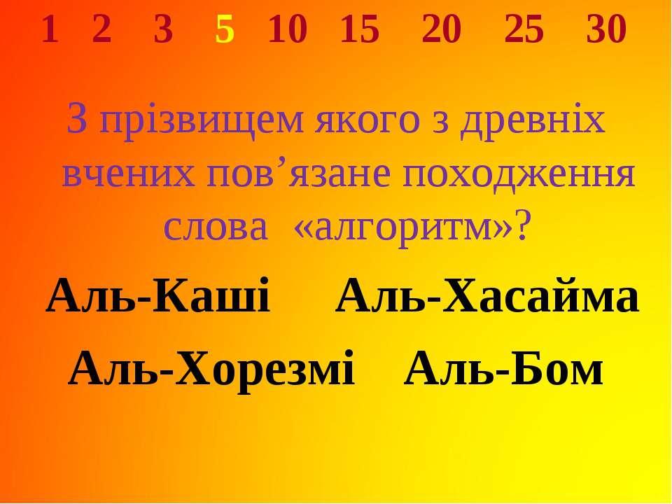 1 2 3 5 10 15 20 25 30 З прізвищем якого з древніх вчених пов'язане походженн...