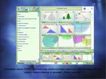 Головне вікно ПЗНП «Бібліотека електронних наочностей «Геометрія, 7-9 клас» з...
