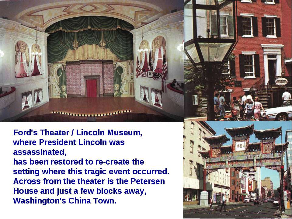 Ford's Theater / Lincoln Museum, where President Lincoln was assassinated, ha...
