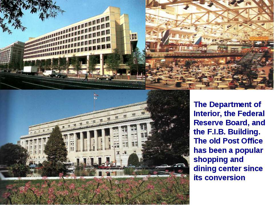 The Department of Interior, the Federal Reserve Board, and the F.I.B. Buildin...