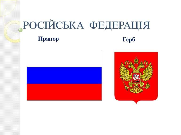РОСІЙСЬКА ФЕДЕРАЦІЯ Прапор Герб