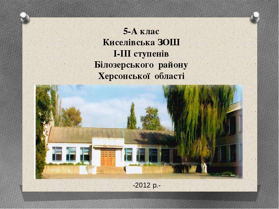 5-А клас Киселівська ЗОШ І-ІІІ ступенів Білозерського району Херсонської обла...