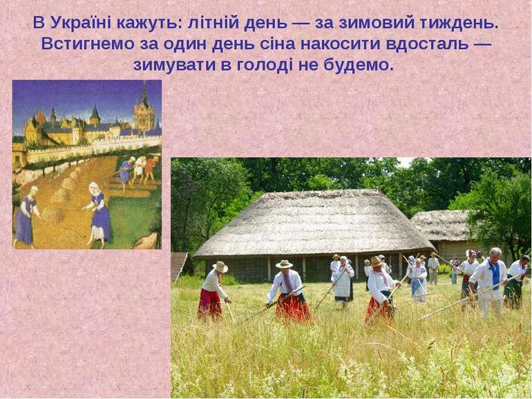 В Україні кажуть: літній день — за зимовий тиждень. Встигнемо за один день сі...