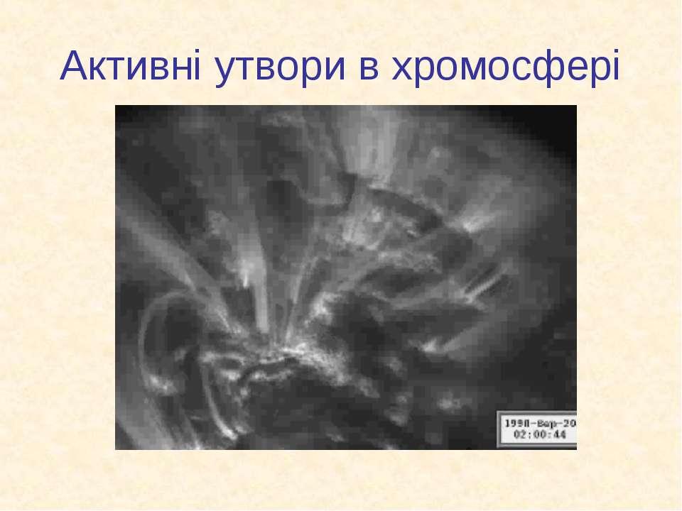 Активні утвори в хромосфері