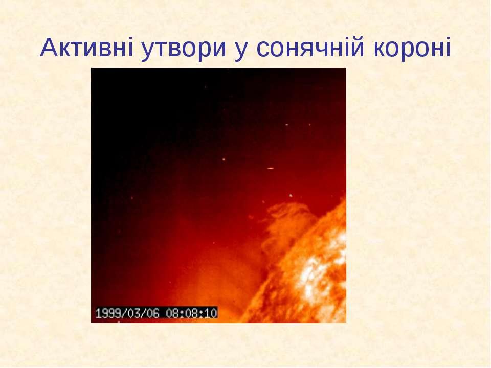 Активні утвори у сонячній короні