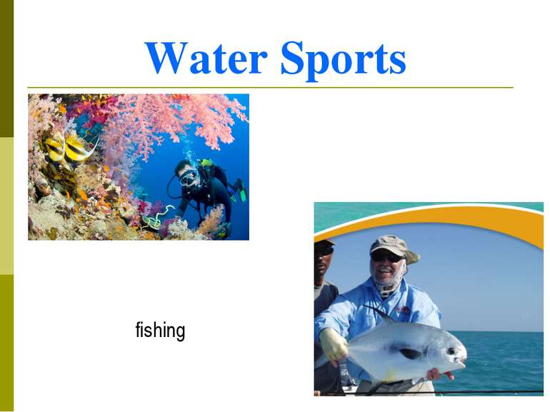 Water Sports diving fishing