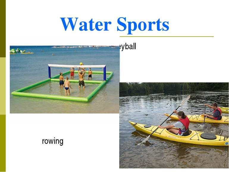 Water Sports beach volleyball rowing