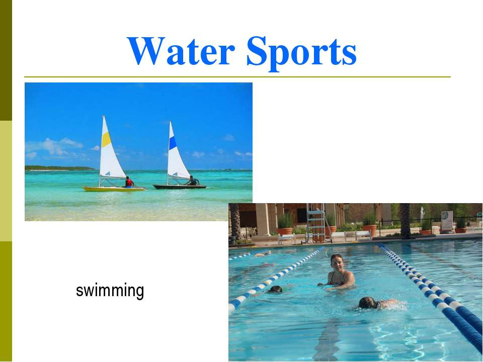 Water Sports yachting swimming