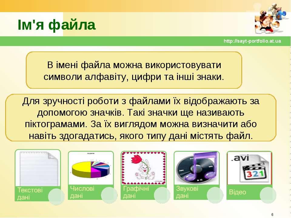 Ім'я файла * http://sayt-portfolio.at.ua В імені файла можна використовувати ...