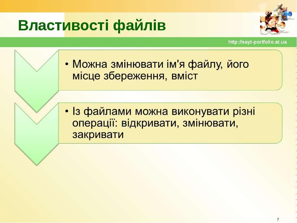 Властивості файлів * http://sayt-portfolio.at.ua http://sayt-portfolio.at.ua
