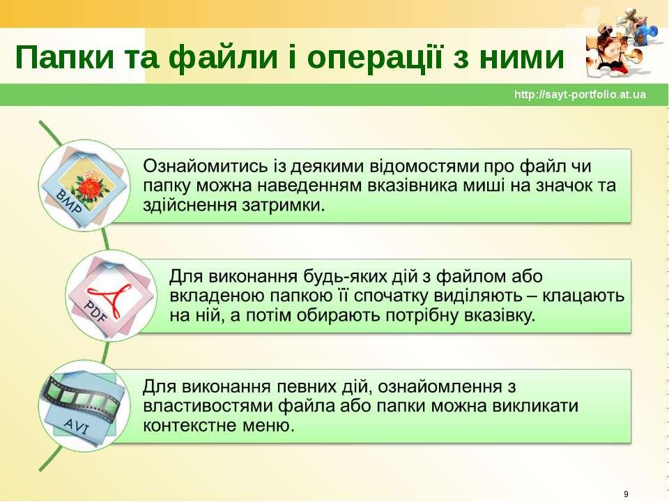 Папки та файли і операції з ними * http://sayt-portfolio.at.ua http://sayt-po...