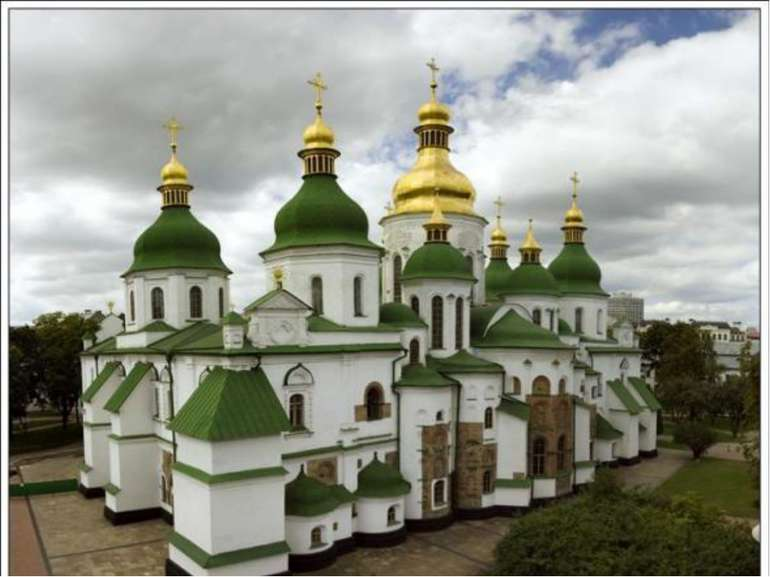 Софія Київська (Собор святої Софії) був збудований уXI ст.в центрі Києваза...