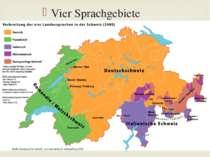 Vier Sprachgebiete