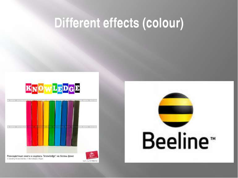 Different effects (colour)