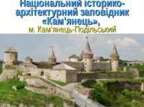 Національний історико-архітектурний заповідник «Кам'янець», м. Кам'янець-Поді...
