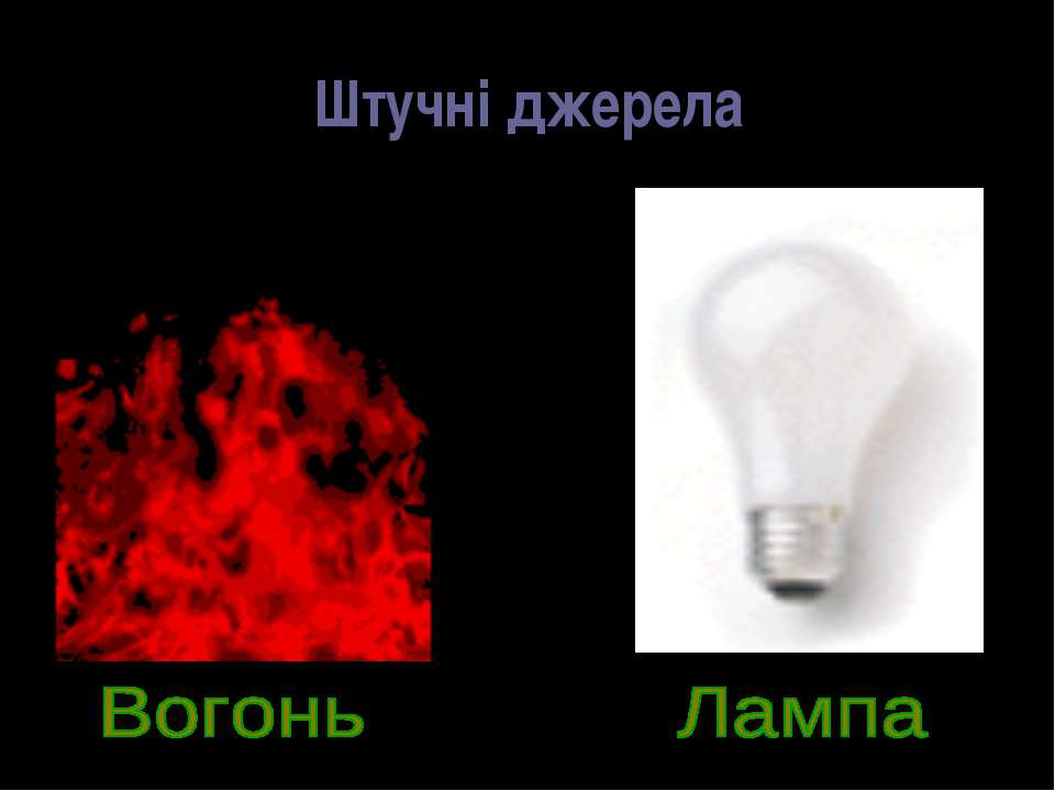 Штучні джерела