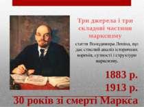 Три джерела і три складові частини марксизму стаття Володимира Леніна, що дає...