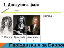 Періодизація за Барром 1. Донаукова фаза 1750 р. виникнення У. Петті Буагільб...