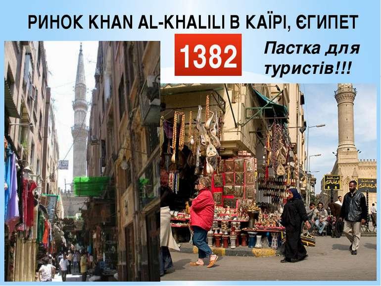 РИНОК KHAN AL-KHALILI В КАЇРІ, ЄГИПЕТ 1382 Пастка для туристів!!!