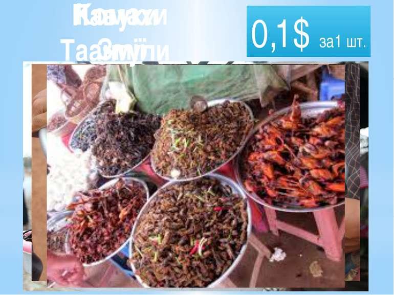 0,1$ за1 шт. Павуки Таантули Комахи Змії