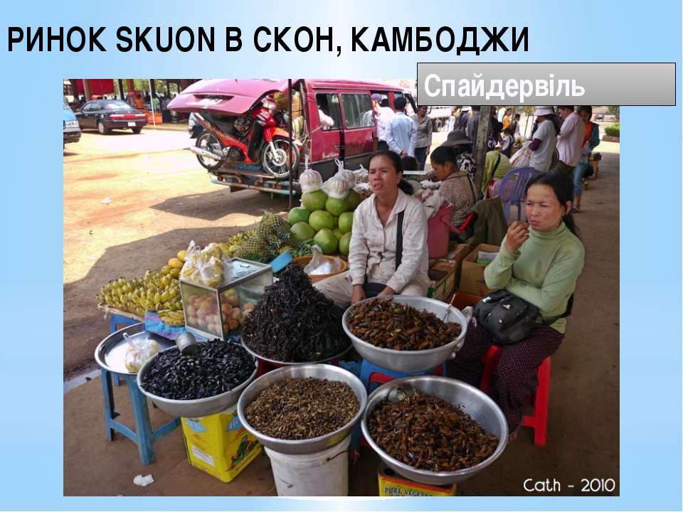 РИНОК SKUON В СКОН, КАМБОДЖИ Спайдервіль