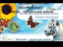 Любимівський НВК кабінет біології 10 клас , профільний рівень Автор :Дудченко...