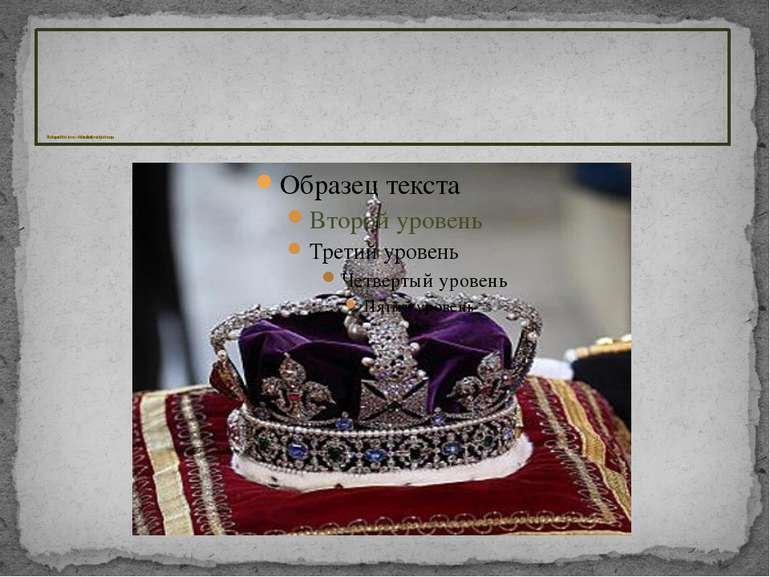 The Imperial State Crown, which is traditionally worn by the Sovereign The Im...
