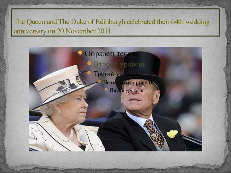 The Queen and The Duke of Edinburgh celebrated their 64th wedding anniversary...