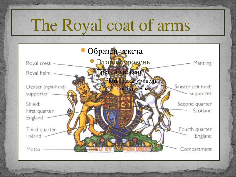 The Royal coat of arms