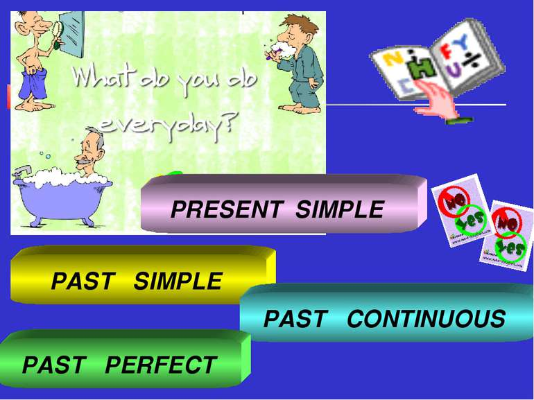 PAST SIMPLE PAST CONTINUOUS PAST PERFECT PRESENT SIMPLE