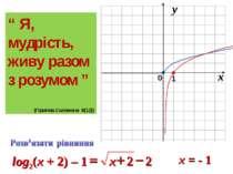 """x = - 1 """" Я, мудрість, живу разом з розумом """" (Припов.Соломона 8(12))"""