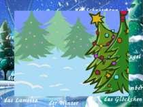 das Buch der Schneemann das Bonbon das Haus das Lineal der Weihnachtsmann der...