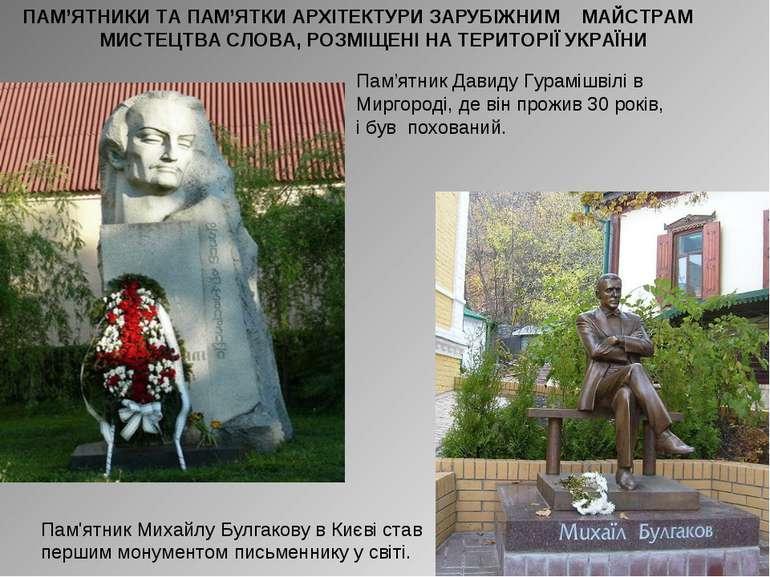 Пам'ятник Давиду Гурамішвілі в Миргороді, де він прожив 30 років, і був похов...