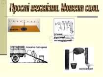важіль коловорот блоки: рухомий та нерухомий похила площина