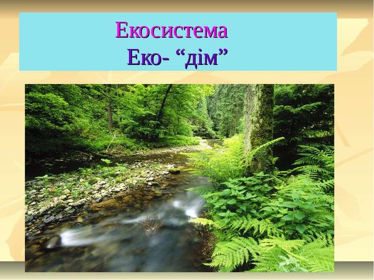"Екосистема Еко- ""дім"""