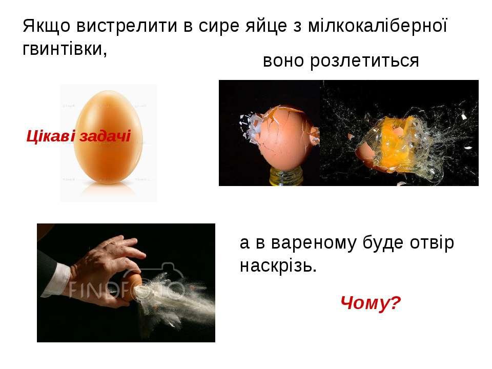 Якщо вистрелити в сире яйце з мілкокаліберної гвинтівки, а в вареному буде от...
