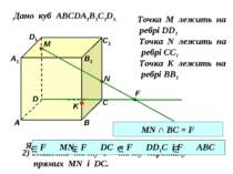 Дано куб АВСDA1B1C1D1. D1 D С1 С В1 В А1 А M Точка М лежить на ребрі DD1 N То...