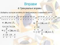 Виберіть числа,які входять до даної множини із наведених нижче: 6.Тренувальні...