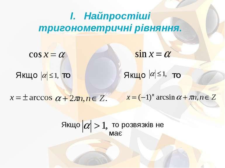 Якщо то розвязків не має Найпростіші тригонометричні рівняння.