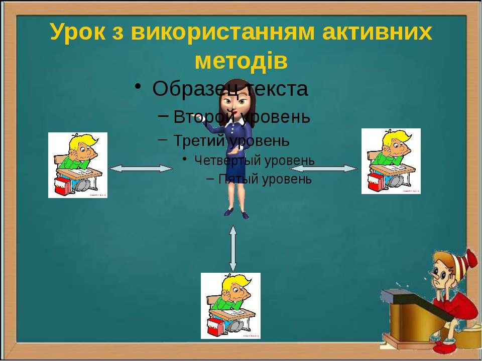 Урок з використанням активних методів