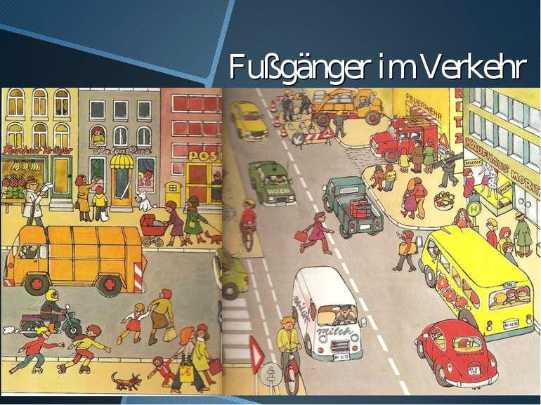 Fußgänger im Verkehr