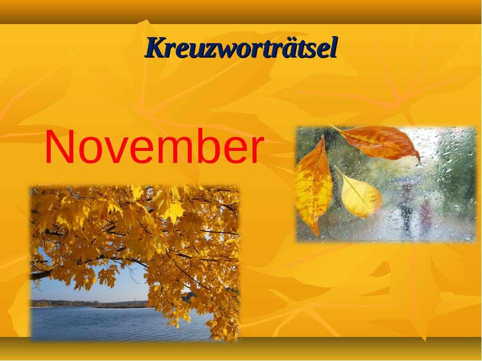 Kreuzworträtsel November