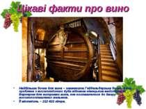 Цікаві факти про вино Найбільша бочка для вина – знаменита Гейдельберзька боч...