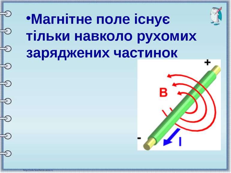 Магнітне поле існує тільки навколо рухомих заряджених частинок