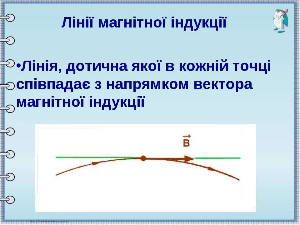 Лінії магнітної індукції Лінія, дотична якої в кожній точці співпадає з напря...